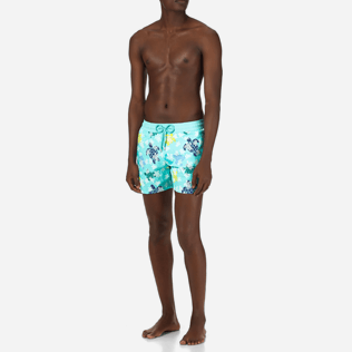 Homme CLASSIQUE STRETCH Imprimé - Maillot de bain Homme Glow in the dark Gang des tortues, Lagon frontworn