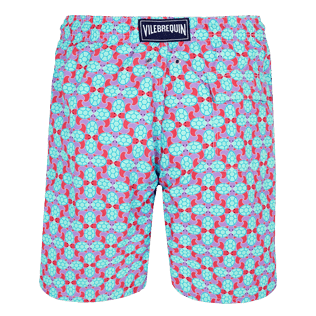 Men Long classic Printed - Men Swim Trunks Long Data Turtles, Cherry blossom back
