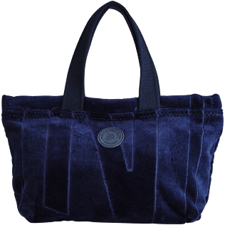 Others Solid - Small Terry Cloth Beach bag Jacquard Solid, Navy front
