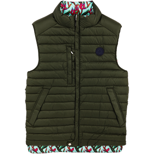 Others Printed - Unisex Reversible Sleeveless Down jacket Paradise 3D, Moss front