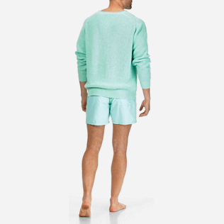 Men Others Solid - Men Cotton Linen Pullover Solid, Lagoon supp4