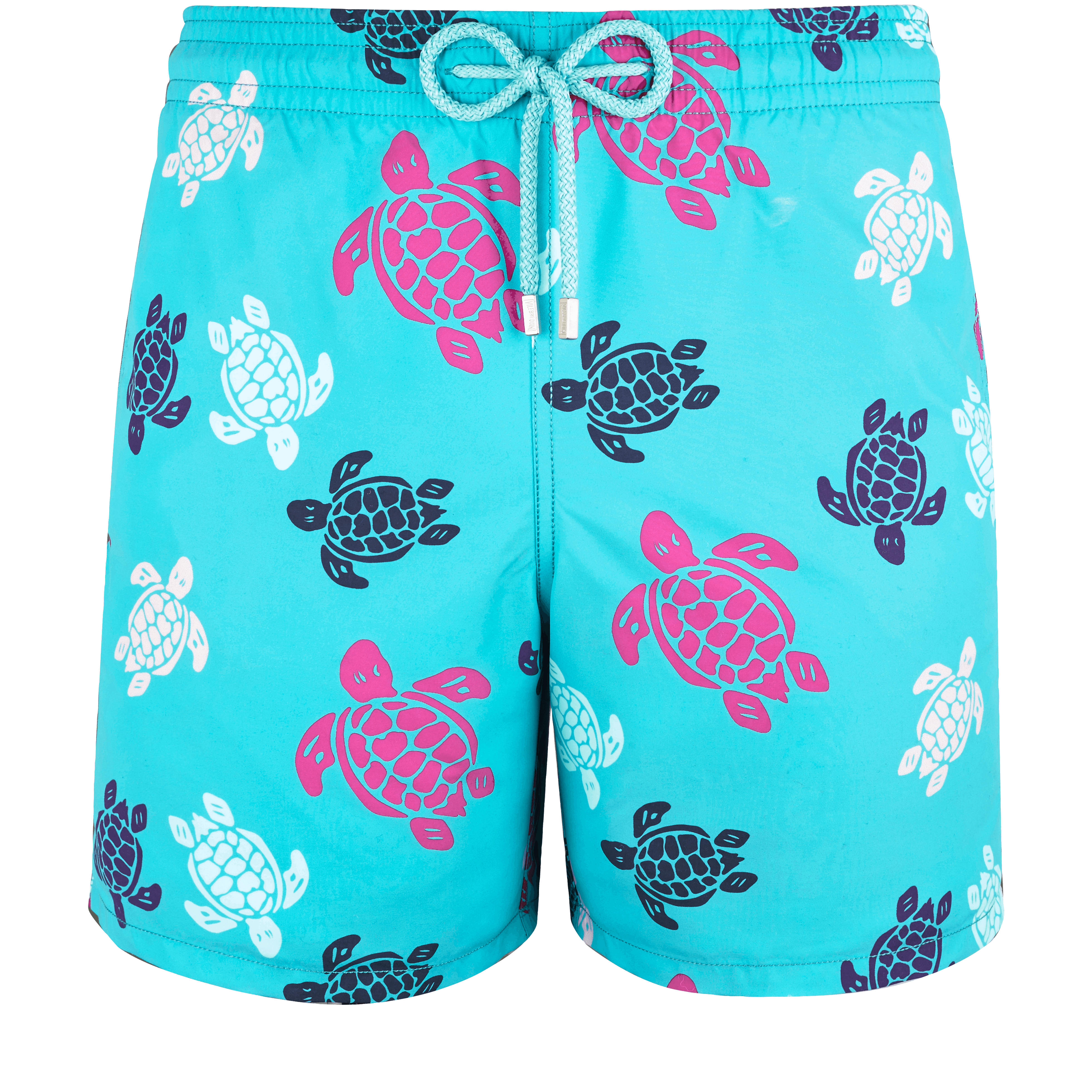 5ca9ea44357 Vilebrequin Men Swimwear - Men Swimwear Multicolor Turtles - Swimming Trunk  - Moon In Turquoise