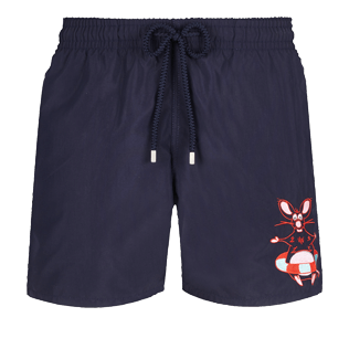 Men Classic Embroidered - Men Swimtrunks Placed embroidery The Year Of The Rat, Navy front