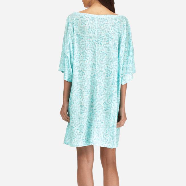Vilebrequin - Robe T-shirt Oversize en Jersey Tencel Femme Tortues Hypnotiques - 6