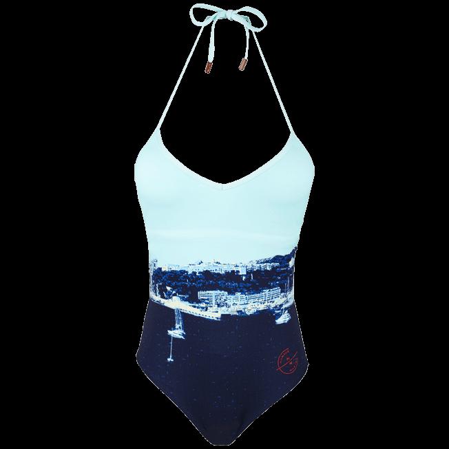 Vilebrequin - Maillot de bain une pièce décolleté en V Femme Monaco Marine 360° - 1