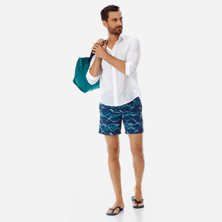 Men Embroidered Embroidered - Men Embroidered swimtrunks Ostend - Limited Edition, Spray supp2