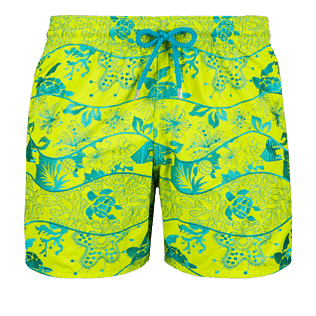 Men Embroidered Embroidered - Men Swimwear Embroidered Vague Heritage - Limited Edition, Chartreuse front
