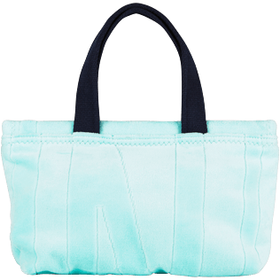 Others Solid - Beach Pouch in Terry Cloth Solid Jacquard, Lagoon back
