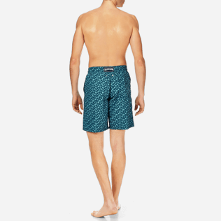 Men Long Printed - Men Long Swimwear Micro ronde des tortues, Spray backworn