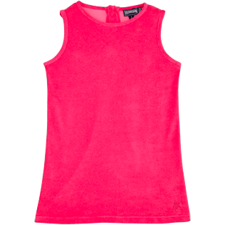 Girls Dresses Solid - Solid Terry Sleeveless dress, Shocking pink front