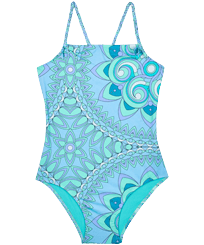 Girls Others Printed - Girls One-piece Swimsuit Mandela, Lagoon front