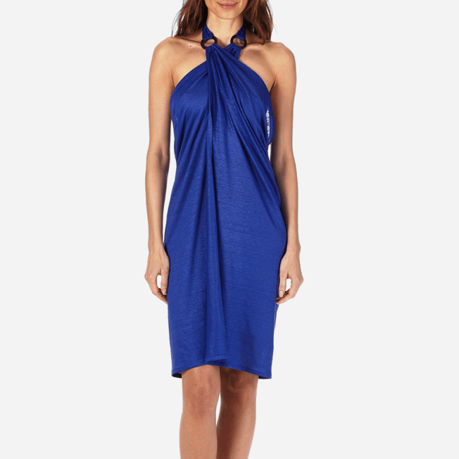 Vilebrequin - Robe paréo en Jersey de lin Femme Unie - 5