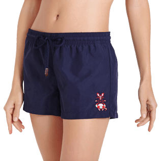 Women Others Embroidered - Women Swim Short The Year Of The Rat, Navy supp1