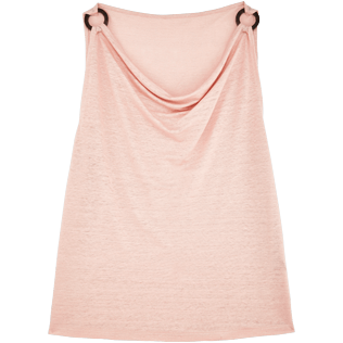 Women Others Solid - Women Cowl neck Linen Jersey Top Solid, Nude front