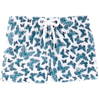 Girls Shorties Printed - Butterflies Straight cut shortie, Azure front