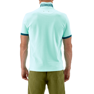 Men Others Solid - Cotton pique polo, Lagoon supp2