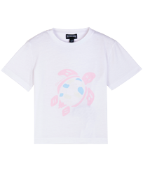 Others Printed - Kids Cotton T-Shirt Solid UV reactive, White front