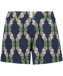 Donna Altri Stampato - Shorts da mare donna stretch Sweet Fishes, Blu marine front