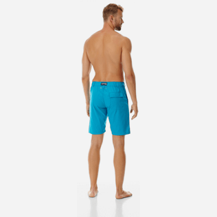 Men Others Solid - Men swimwear fabric straight Bermuda Shorts Solid, Seychelles backworn