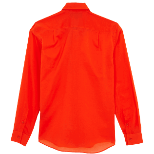 Others Solid - Unisex Cotton Voile Light Shirt Solid, Medlar back
