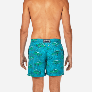 Men Classic / Moorea Printed - Dip Dye Taxis Swim shorts, Prussian blue supp2