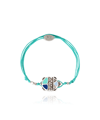 Others Solid - Kids String Enameled Turtle Bracelet - Vilebrequin x Gas Bijoux, Lagoon front