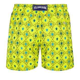 Men Embroidered Embroidered - Men Swimwear Embroidered Squad Turtles - Limited Edition, Chartreuse back