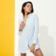 Women Others Solid - Women Linen Shirt Dress Solid, Sky blue supp3