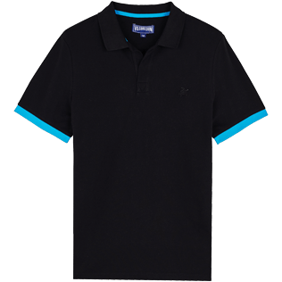 Men Others Solid - Men Cotton Polo Shirt Solid, Black front