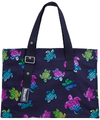 Others Printed - Unisex Beach bag Ronde des Tortues Aquarelle, Navy front