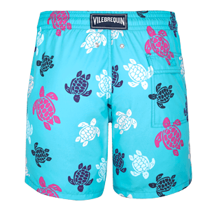 Men Classic Printed - Men Swimwear Multicolor Turtles, Curacao back