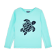 Others Printed - Kids Long Sleeves Rashguards Solid, Lagoon front