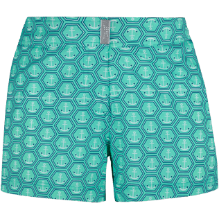 Women Others Printed - Women Stretch swim short Ancre De Chine, Mint front