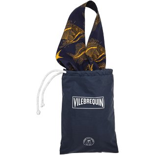 Others Printed - Oversize Packable Bag Prehistoric Fish, Navy supp3