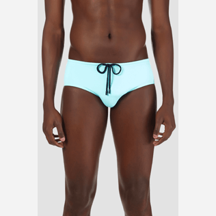 Men Swim brief and Boxer Solid - Men Fitted Swim briefs Solid, Lagoon supp1