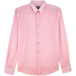 Men Shirts Solid - Solid Cotton veil shirt, Peony front