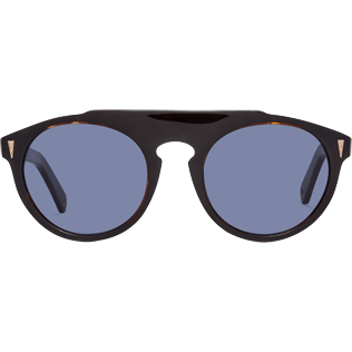 Sunglasses Solid - Blue Smoke Sunglasses, Brown front