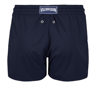 Men Short classic Solid - Men short and fitted stretch swimtrunks solid, Navy back