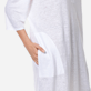 Women Others Solid - Women Long linen jersey Tunic Dress Solid, White supp1