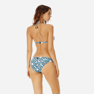 Donna Slip classico Stampato - Women Classic Brief Bikini Bottom Oursinade, Blu marine backworn