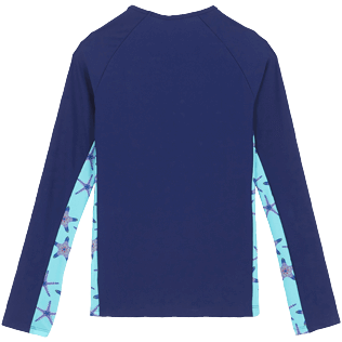 Women Others Printed - Women Rashguard Starfish Dance, Batik blue back