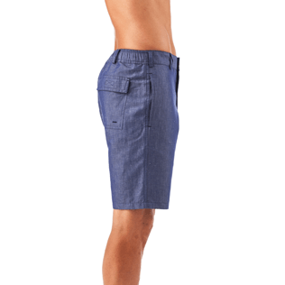 Men Shorts Solid - Solid Straight bermuda, Jeans blue supp1