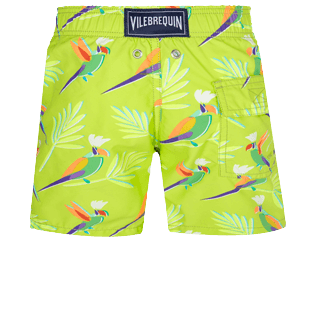 Boys Others Printed - Boys Swimwear Multicolore Parrots, Lemongrass back