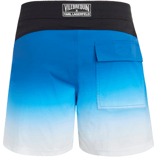 Men Fitted Printed - Karl Lagerfeld Fitted cut Swim shorts, Ocean back