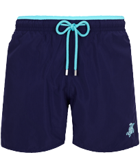 Men Classic Solid - Men Swim Trunks Bicolor Solid, Sapphire front