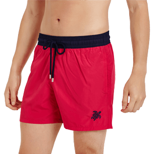 Men Ultra-light classique Solid - Men Swim Trunks Ultra-light and packable Bicolor, Gooseberry red supp1