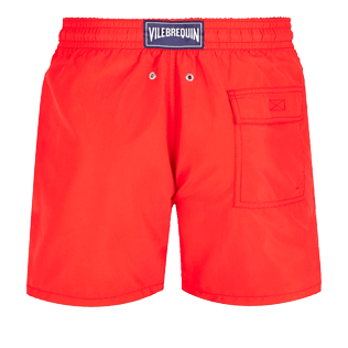 Men Classic Embroidered - Men Swimtrunks Placed embroidery Christmas Crackers, Medicis red back