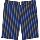 Men Long Printed - V Fish Long fitted cut Swim shorts, Navy front