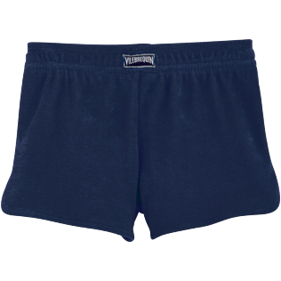 Girls Shorties Uni - Shorts aus Frottee, Marineblau back