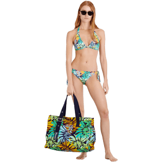 Women Classic brief Printed - Women Brief to be tied Bikini Bottom Jungle, Midnight blue supp2